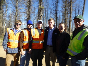 The Habitat Management crew with Governor John Hickenlooper